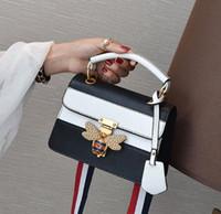 ingrosso borse bianche per l'estate-gules nero bianco moda colore piccola gingillo quadrato estate nuova borsa femminile inserisce la borsa a spalla lucchetto ape