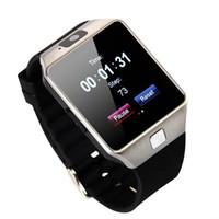 сотовые телефоны gsm оптовых-DZ09 Bluetooth смарт часы-телефон Mate для GSM SIM для Android для iPhone Samsung HTC и LG Huawei сотовый телефон 1.56 дюйма Бесплатная доставка DHL смарт-часах