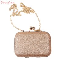 Wholesale Purple Glitter Purse - Ocardian Luxury Women's Glitter Golden Wedding Bride Shoulder Bags Evening Party Day Clutches Purse Chain Bags Dropship 170816
