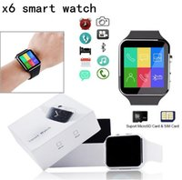 Wholesale 2018 New Bluetooth Smart Watch X6 Smartwatch sport watch For Apple iPhone Android Phone With Camera FM Support SIM Card