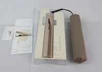 Top sale 2 in 1 Hair curler Hair Straightener Titanium Gold Plate with High Quality US EU UK plug