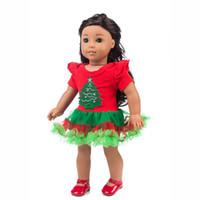 18 amerikan kız bebek aksesuarları toptan satış-Zarif Yaz Giyim Chirstmas Giysi Elbise 18 Inç Amerikalı Kız Bebek Aksesuarı Kız Oyuncak Güzellik Doll Parti Elbise
