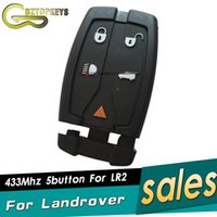 Wholesale car keys blanks - L0110 Free shipping smart keyless entry 5button with key blade 433Mhz ID46 blank chip for Landrover LR2 remote car key