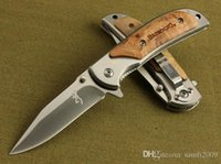 Wholesale browning 338 - Special offer Browning 338 FA15 Pocket Folding knife Outdoor camping hiking Small folding knife knives with original paper box pack