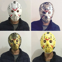 Wholesale Half Movies - Masquerade Masks For Adults Jason Voorhees Skull Mask Paintball 13th Horror Movie Mask Scary Halloween Costume Cosplay Festival Party Mask