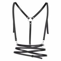 koşum takımı modası toptan satış-2 Renk Avrupa Harajuku Garter Moda Gotik Kadın Bayan Lady Kızlar Için Seksi Demeti Hollow Out Dantel Up Giyim Aksesuarları