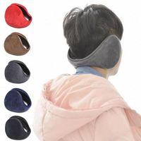 Wholesale Winter Accessories Ear Muffs - New Arrival Unisex Colorful Winter Fleece Warmer Earmuff Fashion Plush Cloth Ear Muffs For Men Women Accessories Y4