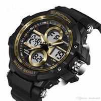 Wholesale dive watch men for military - SANDA 261 Brand 7 Color Backlights Sport Watch Men Chronograph Military Watch Waterproof Swim Diving Clock For Men relogio masculino