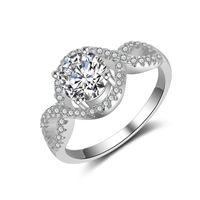 güzel hediye yüzükleri toptan satış-ABD Boyutu Güzel Kadınlar Düğün RING CZ Elmas Yüzük ile 925 Gümüş Kızlar için nişan Hediye