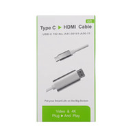Wholesale hdtv phone - 2.0 USB-C USB 3.1 Type C to HDMI 1080p HDTV Adapter Cable for LeTV Letv Cell Phone le 1s Pro Max S1 X600 x800