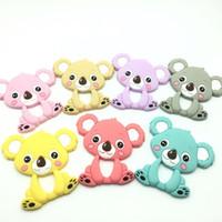 Wholesale Baby Koalas - Silicone Koala Teether Baby Toy Food Grade Bear Silicone Pendant Teething Beads Baby Teether Chewable Sensory Nursing Teethers