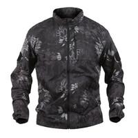dünne armeejacke großhandel-Shanghai Story Ultradünne atmungsaktive Sonnenschutzkleidung für Männer Tactical Army Jacket Schnell trocknender Hautmantel
