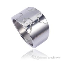 Wholesale bear good - TL stainless steel and glass ring two colours gold and silver plated precious style good qualityTL stainless steel bear ring fast shipping c