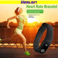 Wholesale heart rate monitors women - Bestsin M2 Smart Wristband M2 Smart Bracelet Heart Rate Monitor Pedometer Waterproof Bluetooth For iOS Android For Men Women