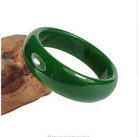 gemstone jewelry china achat en gros de-Chine Naturel Vert Hetian Jade Bracelet Bracelet Mode Tempérament Bijoux Pierres Précieuses Accessoires Cadeau