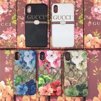 Wholesale Mobile Covers Printing - Luxury brand fashion Animals Bee Snake printing mobile phone shell for iPhone7 6 6S 7plus hard back cover for iPhone8 8plus