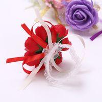 için kullanılan düğün süslemeleri toptan satış-Gelin Nedime El Çiçek Dekorasyon Kolay Kullanımı Basit Ve Kullanışlı Simülasyon Bilek Çiçekler Düğün Makaleleri El Bant Çiçeği 2yz Y