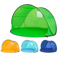 Wholesale two door tents for sale - Group buy Practical Dustproof Tent Four Colors Quick Automatic Opening Tents Semi Circle Shape Sunscreen Ultraviolet Proof Tabernacle Green km B