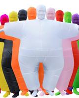 ingrosso costumi divertenti di carnevale-Nuovi costumi di Sumo gonfiabili per bambini Cosplay Joker Costume Divertente Temi Divertente Abbigliamento Carnevale Costumi