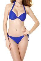 bikinis-ring großhandel-Europa und die Vereinigten Staaten neue Bademode ohne Stahl Ring versammelten Bikini Strand heißer Frühling hohe Taille Split Badeanzug