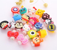 Wholesale cute usb cable - Multi Cartoon Patterns USB Cable Protector Headphones Line Saver Cute Cartoon Cable Protector For Cell Phones Charging Cable Data Cord