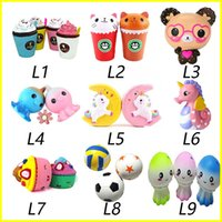 Wholesale cute music - New Squishy Toy unicorn bear Ice cream Football seahorse acaleph burger cat squishies Slow Rising 10cm 15cm Soft Squeeze Cute gift kids t