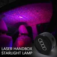 lasersterne lampe großhandel-Romantische Umgebungsatmosphäre Armlehnenkastenlicht Autodachdeckensternlicht Funkelneffekt-Neonglühen-Laserlampe mit freiem Verschiffen des Kleinkasten