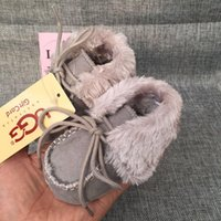 Wholesale anti slip snow shoes for sale - Baby Boys Girls Snow Boots Winter Warm Newborn First Walker Shoes Soft Sole Anti slip Infant Moccasins Sneakers