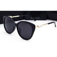 Wholesale Ladies Leg Sunglasses - 2018 woman sunglasses Fashion Pearl Leg Brand lady luxury designer with box UV400 polarizing sunglasses for women