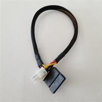 соединительные шнуры оптовых-ПК DIY Материнская Плата 4Pin к SATA Кабель Питания Кабель Для Lenovo Q77 Q75 E450 E350 D510 Материнская Плата Подключить Жесткий Диск HDD SSD