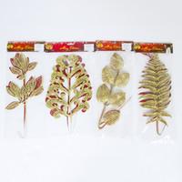 glitterblattdekoration großhandel-2 stücke Weihnachtsbaum Topper Künstliche Glitter Blatt Blätter Baum Gefälschte Blume Dekoration Einfache Design Neujahr Dekoration