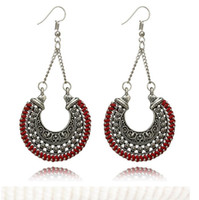 Wholesale gift baskets weddings - 2018 Europe and the United States Bohemia Earrings DIY Hollow out U basket sculpture earrings Jewelry For Women Party Gift 74