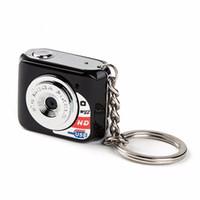 camara digital hd großhandel-Der kleinste Mini-DV-MetallKeychain der Verschiffen-Welt vorzüglicher 480p HD Digital MiniCamara Unterstützung Microsd TF Karte