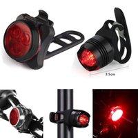 ingrosso usb della coda della bici-Nuova bicicletta Ricaricabile a LED Bike Luce Lampada da bicicletta Set Front Light Coda USB Impermeabile Lampada impermeabile Accessori