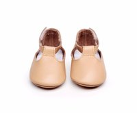 Wholesale Mary Soles - New Genuine Leather baby girl shoes Prewalkers Newborn toddler moccasins First Walkers Mary jane shoes soft sole for 0-24M
