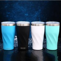 Wholesale Green Travel Mugs - 4 Colors 20oz Stainless Steel Cups Vacuum Insulated Mugs Car Travel Water Bottles Coffee Mug With Lid CCA8606 100pcs