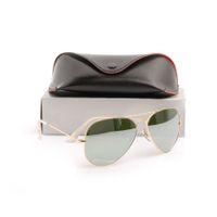 óculos de sol uv venda por atacado-Marca de alta Qualidade Designer de óculos de sol óculos de Sol de Ouro Moldura de espelho óculos de sol Das Mulheres dos homens da moda óculos de Sol UV piloto clássico óculos de sol