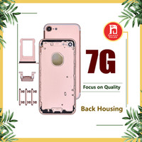 Wholesale iphone battery back housing online - Back Housing Battery Cover Coque for iPhone G with LOGO Buttons Sim Tray Custom IMEI Fundas Chassis Rear Door Middle Body Panel