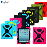 Wholesale Ipad Military - Pepkoo Defender Military Spider Stand Water dirt shock Proof Case Cover for Ipad 2 3 4 5 6 Air Mini 1 2 3