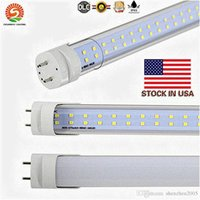 4ft 28w leuchtstoffröhre großhandel-Lager in US-LED-Röhre T8 28W 4ft 288 LED-Doppelreihen ersetzen 50W Leuchtstofflampe 4 Fuß Shop Licht Lampe AC85-265V