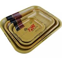 makine kutuları toptan satış-Metal Ham Tepsi Teneke Plaka Vaka 5 BOYUTU Makinesi Tütün Haddeleme Tepsi Handroller Sigara Saklama Kutusu Noel Hediyeler HH7-384