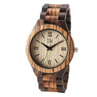 Wholesale led watches for sale - 2018 TJW latest wooden wristband watch Original ecological wood textured dial leads the light luxury casual style