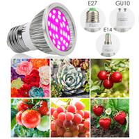 ingrosso luci dell'albero di fiore-E27 / E14 / GU10 6W 28-LEDPlant Grow Light Bulbo Idroponico Veg Flower Full Spectrum LED Luce della pianta per Flower Tree Grow Garden