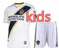 Wholesale galaxy uniforms - 2018 LA Galaxy kids kit home Soccer jersey 18 19 Los Angeles Camisa Ibrahimovic ALESSNDRINI J.DOS SANTOS child kit football shirt uniforms
