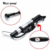 Wholesale air valve pump resale online - WEST BIKING Schrader Presta Valve Mini Portable Mountain Bike Barometer Pumps MTB Bicycle Cycling Air Bomba Bicicleta Tire Tools