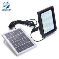 Wholesale Solar Warm White Flood Light - 150 LED Floodlight Solar Light 3528 SMD Solar Powered LED Flood Light Sensor Outdoor Garden Security Wall 8W