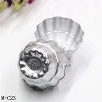 Wholesale Cupping Points - (10pcs lot) New 2 layers twelve pointed flower shape aluminium tart mould jelly pudding cup cupcake mousse mold for DIY bakery
