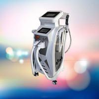 ipl cilt lazeri rf toptan satış-3 in 1 Cilt gençleştirme güzellik makinesi e-ışık ipl rf + nd yag lazer İşlevli epilasyon pigment kaldırma dövme kaldırma ekipmanları