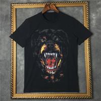 camiseta da camisa 3d venda por atacado-2019 homens verão Marca t shirt de manga curta 3D Rottweiler designer de impressão tshirt ocasional da roupa da forma t de algodão tops t-shirt