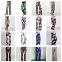Wholesale loose legged yoga pants for sale - New Yoga Wide Leg Pant Fitness floral printed Women Casual Sports Pants Harem Pants Lady Trousers Loose Home Long Pants FFA1061